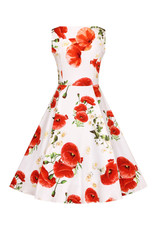 Hearts and Roses Hearts and Roses 1950s Opium Poppy Swing Dress