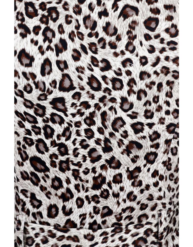 Hearts and Roses Hearts and Roses 1950s Zabrina Leopard Print Dress