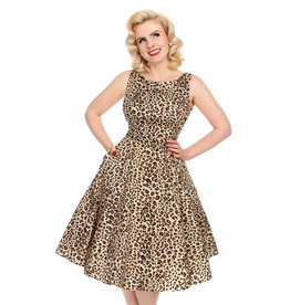 Hearts and Roses Hearts and Roses 1950s Zabrina Leopard Print Dress