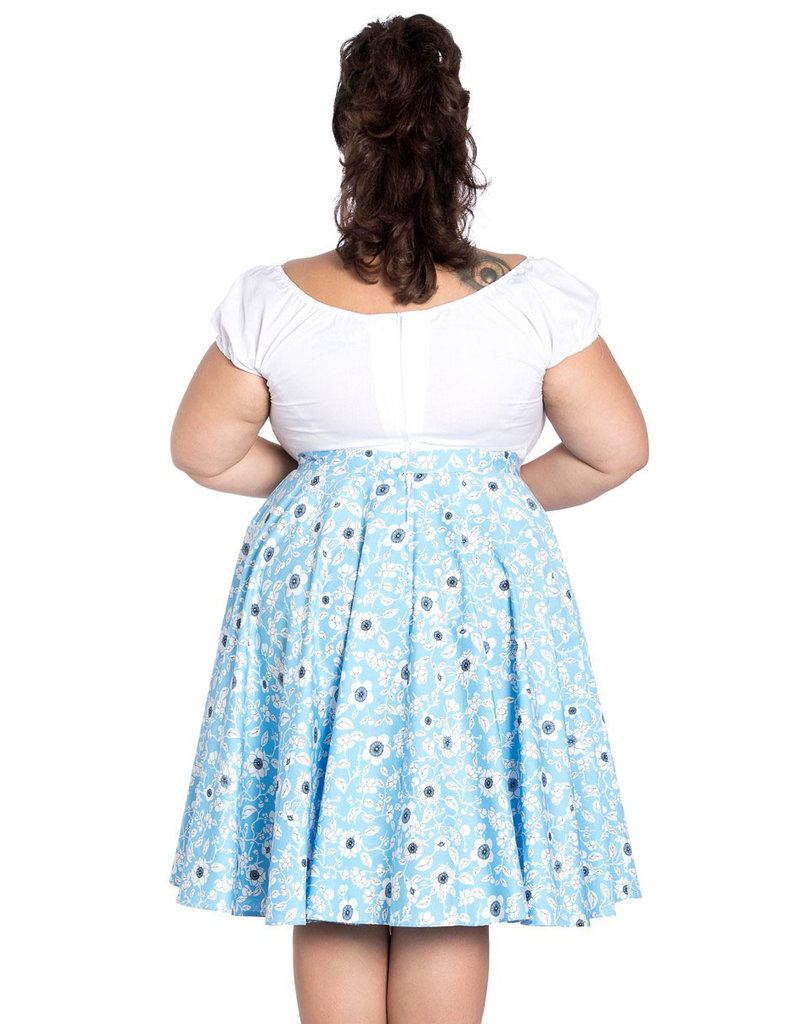 Hell Bunny Hell Bunny 1950s Daphne Floral Swing Skirt