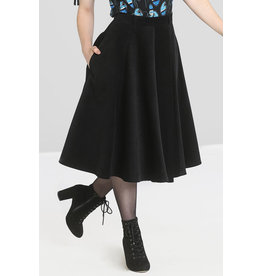 Hell Bunny Hell Bunny 1950s Jefferson Corduroy Skirt Black
