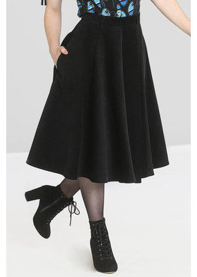 Hell Bunny PRE ORDER Hell Bunny Jefferson Corduroy Skirt Black