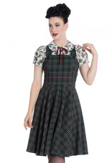 Hell Bunny PRE ORDER Hell Bunny Peebles Pinafore Dress Green