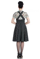 Hell Bunny SPECIAL ORDER Hell Bunny Peebles Pinafore Dress Green