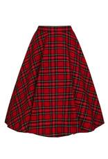 Hell Bunny Hell Bunny 1950s Irvine Red Tartan Swing Skirt