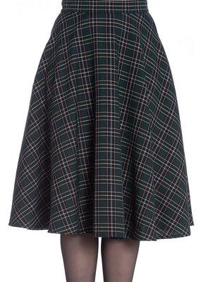 Hell Bunny PRE ORDER Hell Bunny Peebles Green Tartan Skirt