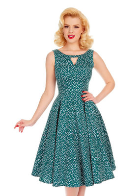 Hearts and Roses Hearts and Roses 1950s La Rosa Dotty Dress