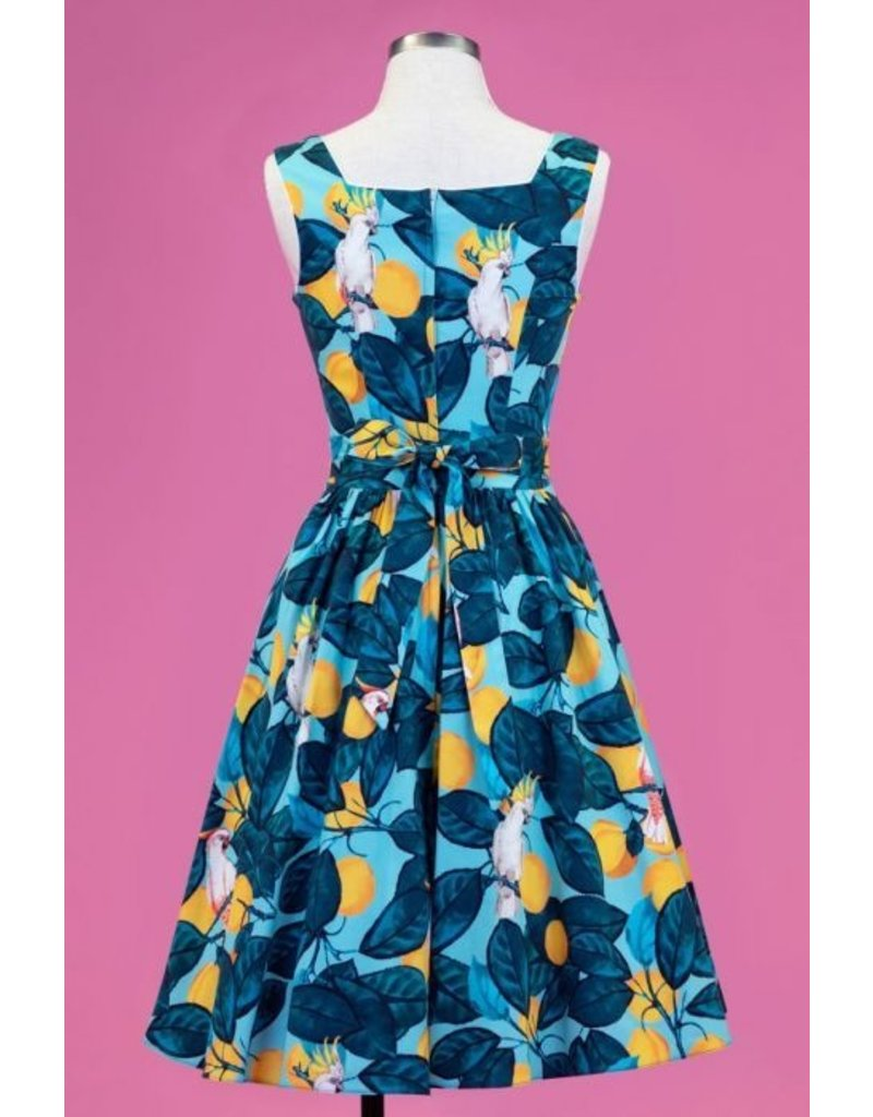 Lady V London Lady Vintage 1950s Eliza Fruitful Cockatoo Dress