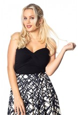 Banned Dancing Days 1950s Wrap Front Top Black