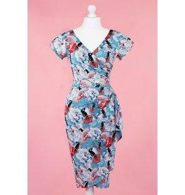 Lady V London Lady Vintage 1950s Elsie Psychadelic Jungle Dress