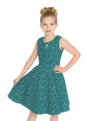 Hearts and Roses Hearts and Roses 50s La Rosa Dotty Kids Dress