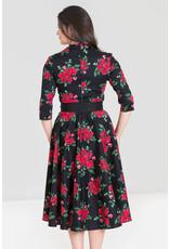 Hell Bunny Hell Bunny 1950s Eternity Roses Dress Black
