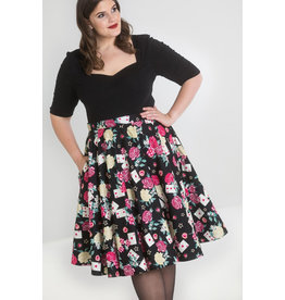 Hell Bunny Hell Bunny 1950s Queen of Hearts Swing Skirt
