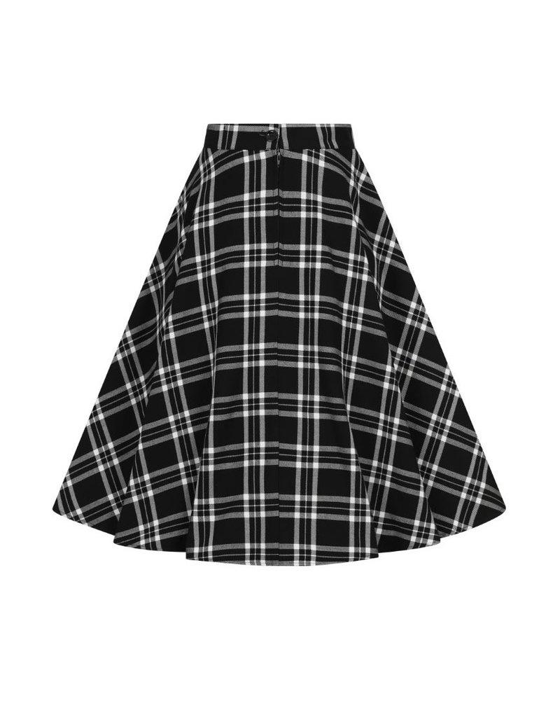 Hell Bunny Hell Bunny 1950s Black Tartan Islay Skirt