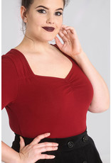 Hell Bunny SPECIAL ORDER Hell Bunny Philippa Top Burgundy