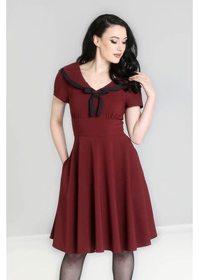 Hell Bunny SPECIAL ORDER Hell Bunny Thea Dress Burgundy