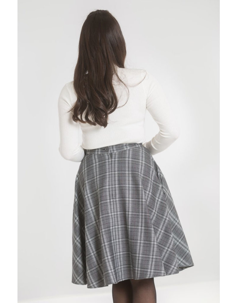 Hell Bunny Hell Bunny 1950s Frostine Swing Skirt Grey