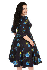 Hearts and Roses Hearts and Roses 1950s Melody Blue Rose Dress
