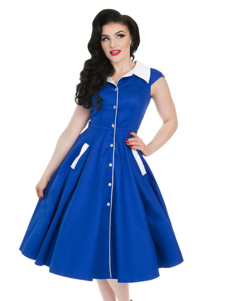 Hearts and Roses Hearts and Roses 1950s Meadow Blue Swing Dress