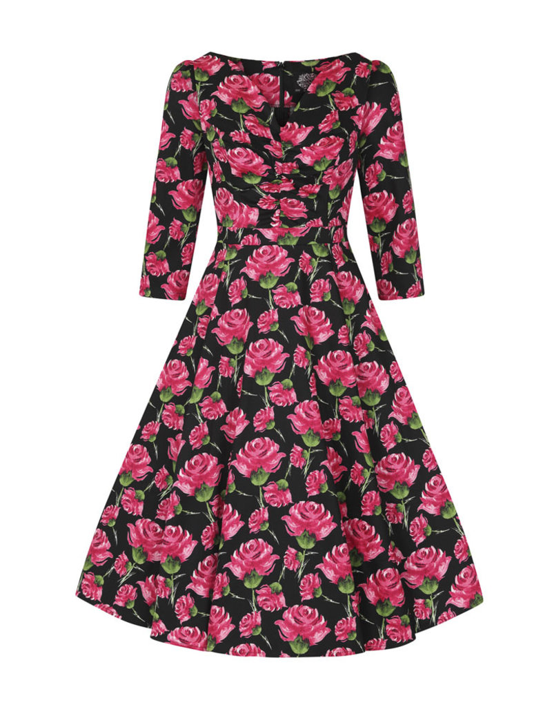 Hearts and Roses Hearts & Roses 1950s English Rose Tea Dress