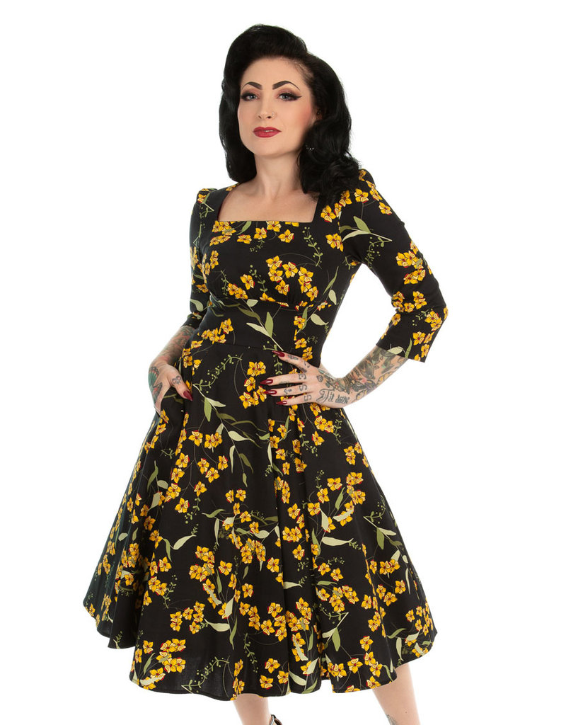 Hearts and Roses Hearts & Roses 1950s Florence Floral Swing Dress