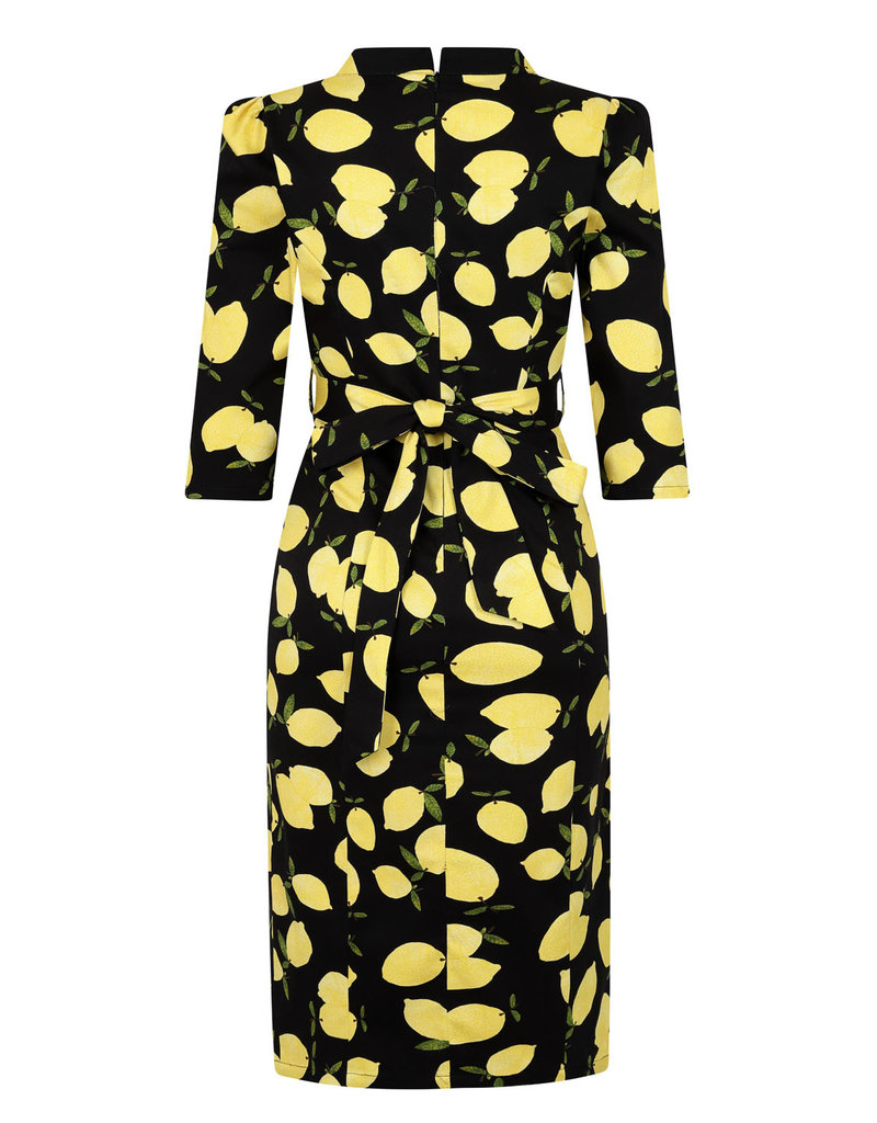 Hearts and Roses Hearts & Roses 1950s Zesty Lemon Wiggle Dress