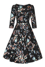 Hearts and Roses Hearts & Roses 1950s Leila Rose Metallic Swing Dress