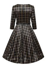 Hearts and Roses Hearts & Roses 1950s Luna Velvet Check Swing Dress