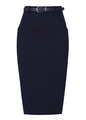 Collectif Collectif 1940s Dianne Pencil Skirt Navy