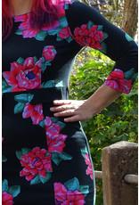 Lien & Giel Lien en Giel Perpigan Big Roses Black Dress