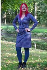 Lien & Giel Lien en Giel 40s Style Buenos Aires Star Petrol Dress