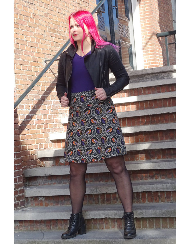 Lien & Giel Bakery Ladies Fanny Skirt Elephant/Black