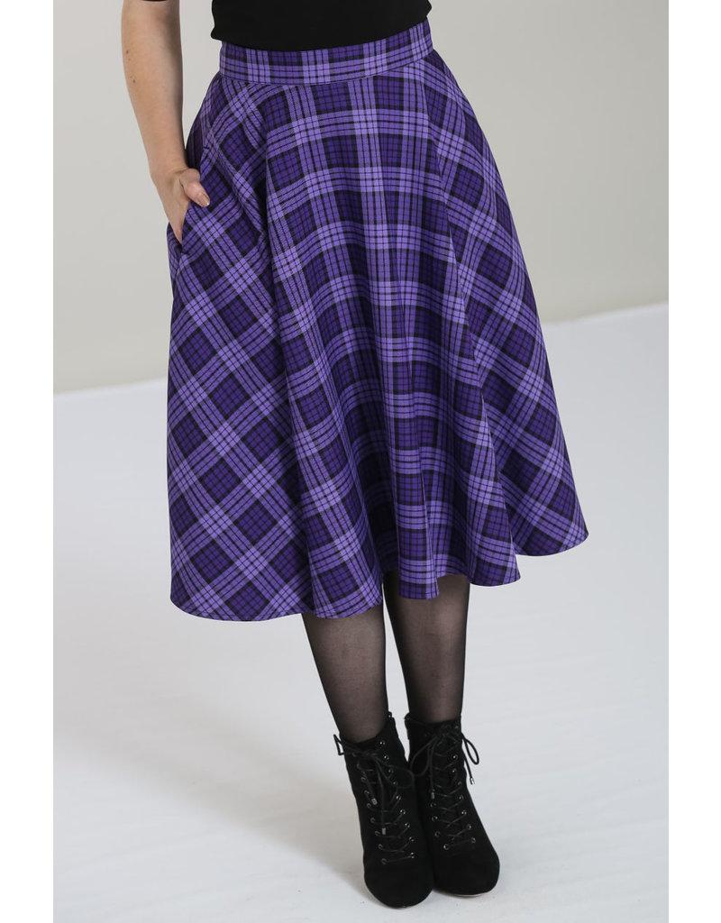Hell Bunny Hell Bunny 1950s Purple Tartan Karine Skirt