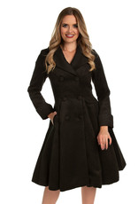 Hearts and Roses Hearts & Roses 1950s Eleanor Swing Coat Black