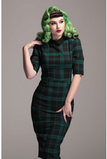 Collectif Collectif 1940s Winona Slither Check Pencil Dress