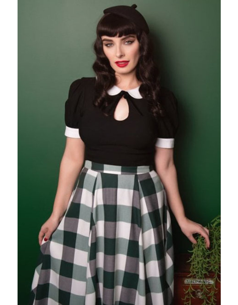 Collectif Collectif 1950s Vintage Khloe Top Black