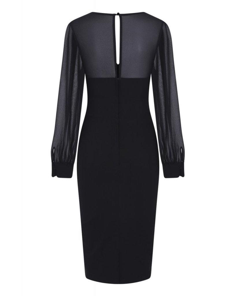 Collectif Collectif 1950s Arionna Pencil Dress Black