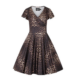 Hell Bunny PRE ORDER Hell Bunny Eartha Leopard Dress