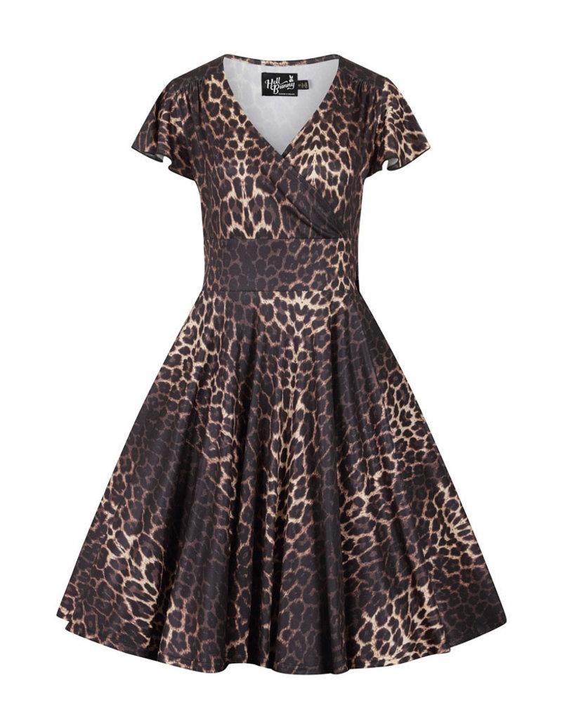 Hell Bunny Hell Bunny 1950s Eartha Leopard Swing Dress