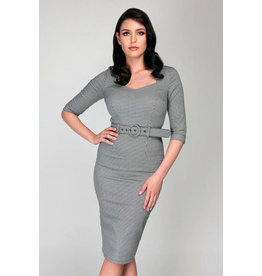 Collectif Collectif 1950s Katya Houndstooth Pencil Dress