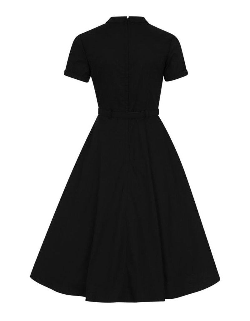 Collectif Collectif 1940s Keira Plain Swing Dress Black
