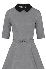 Collectif Collectif 1950s Winona Houndstooth Swing Dress