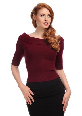 Collectif Collectif 1950s Bridgette Knitted Top