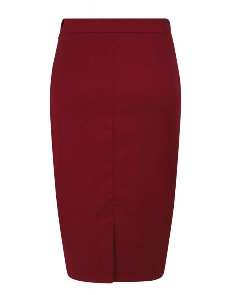 Collectif Collectif 1950s Adrienne Pencil Skirt Red