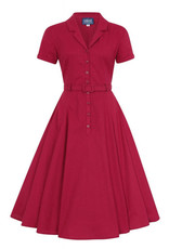 Collectif Collectif 1950s Caterina Raspberry Red Dress
