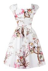 Lady V London Lady Vintage 1950s Spring Bird Swing Dress