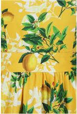 Lady V London Lady Vintage 1950s Yellow Lemon Swing Dress