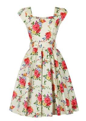 Lady V London Lady Vintage 1950s Blossoming Poppy Swing Dress