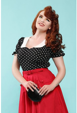 Collectif Collectif 1950s Mirella Polka Dot Top