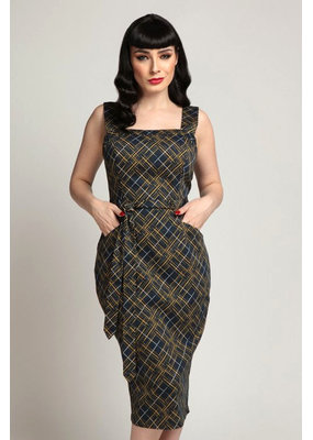 Collectif Collectif 1950s Tess Hatch Pencil Dress